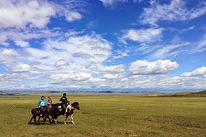 モンゴル4日間  大草原で乗馬・遊牧民訪問
