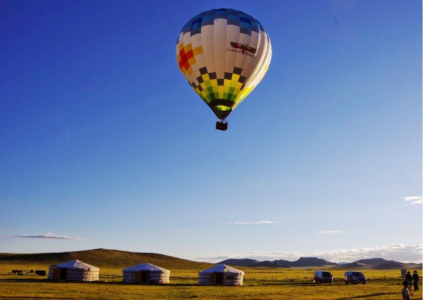 どきどきワクワクの気球体験!
