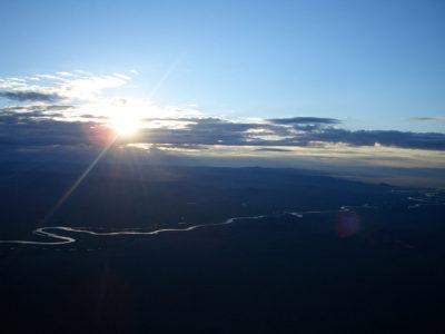 熱気球からの眺め